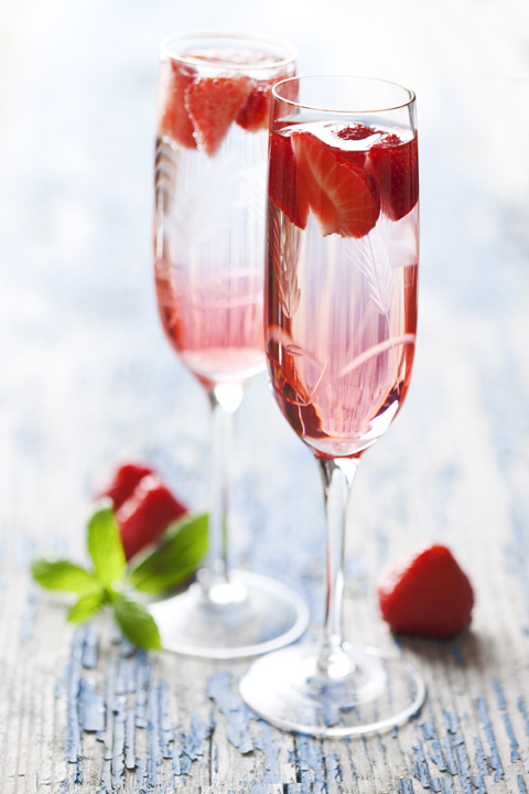 Strawberries and Champagne Welcome